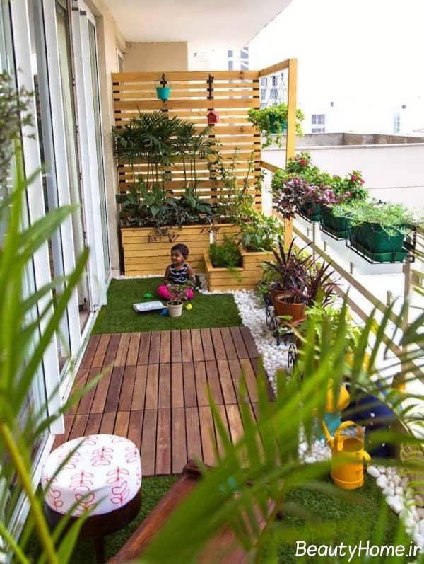 طراحی فضای سبز برای بالکن