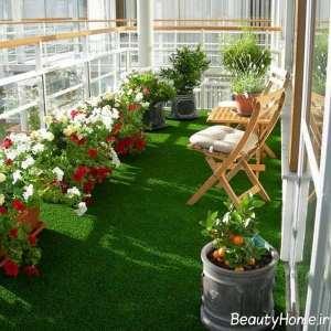 ایجاد فضای سبز در بالکن