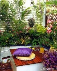 طراحی فضای سبز بالکن با گیاهان زیبا