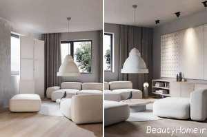 طراحی کامل محیط منزل به سبک مینیمال