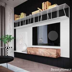 دیزاین شیک اتاق پذیرایی مدرن
