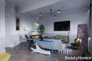 ایده های مدرن در طراحی اتاق نشیمن
