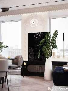 طراحی متفاوت اتاق پذیرایی مدرن