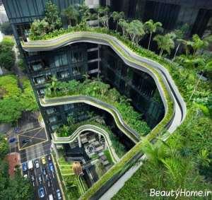 فضای سبز شهری شیک و مدرن