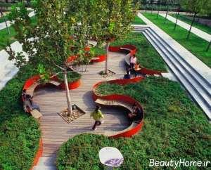 دیزاین شیک فضای سبز