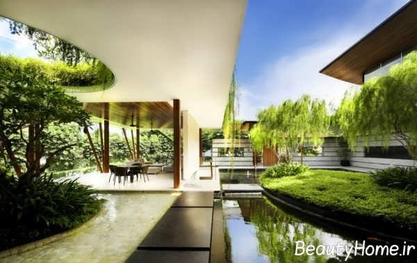طراحی لاکچری فضای سبز منزل