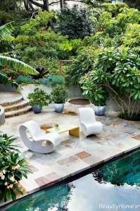 طراحی ایده آل فضای باز محوطه منزل