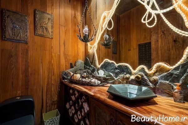 طراحی داخلی ویلا به سبک روستیک