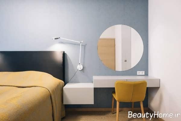 طراحی اتاق خواب با رنگ زرد