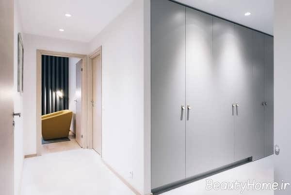 طراحی شیک محیط منزل با تم زرد و آبی