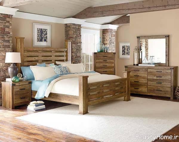 دیزاین داخلی اتاق خواب چوبی