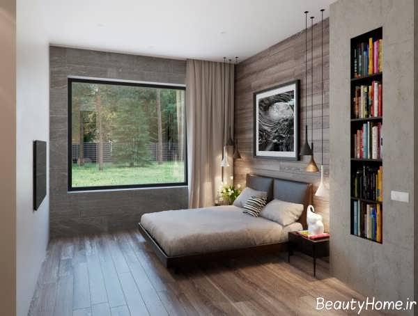 دکوراسیون اتاق خواب چوبی و شیک
