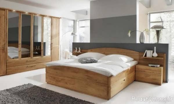 اتاق خواب مدرن و چوبی