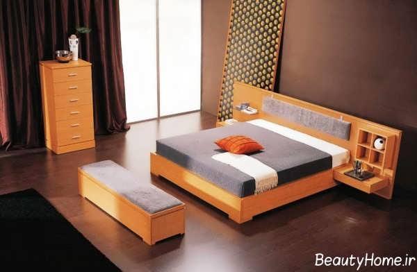 اتاق خواب چوبی و زیبا