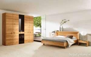 طراحی داخلی اتاق خواب چوبی