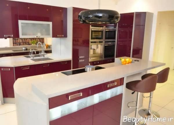 دیزاین فوق العاده آشپزخانه طرح جزیره