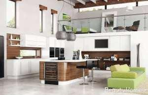 طراحی متفاوت آشپزخانه طرح جزیره