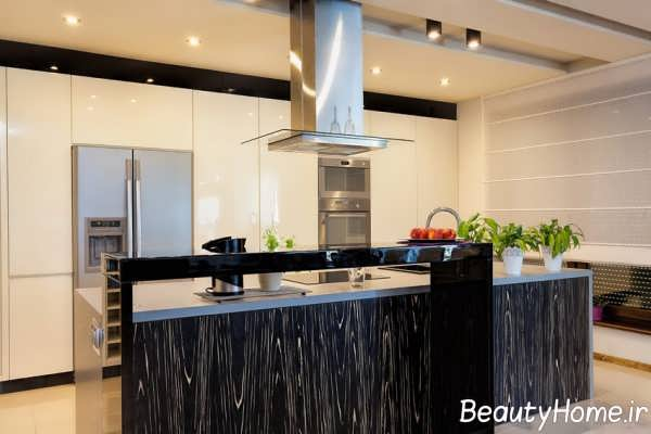 طراحی ایده آل آشپزخانه جزیره ای