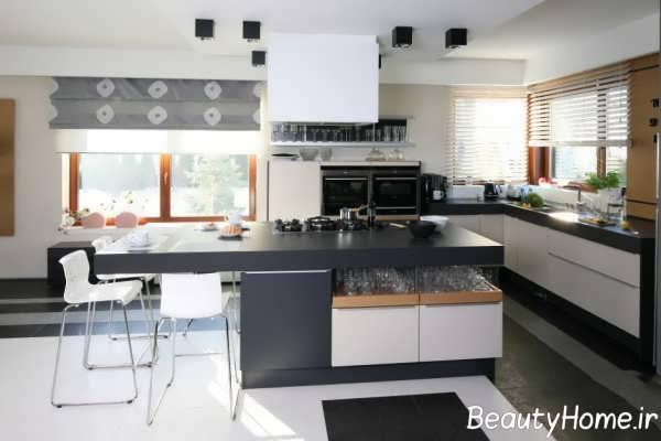 طراحی جذاب آشپزخانه جزیره
