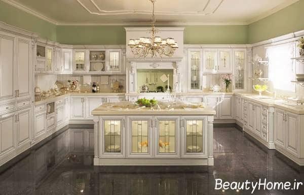 چیدمان فوق العاده آشپزخانه جزیره ای