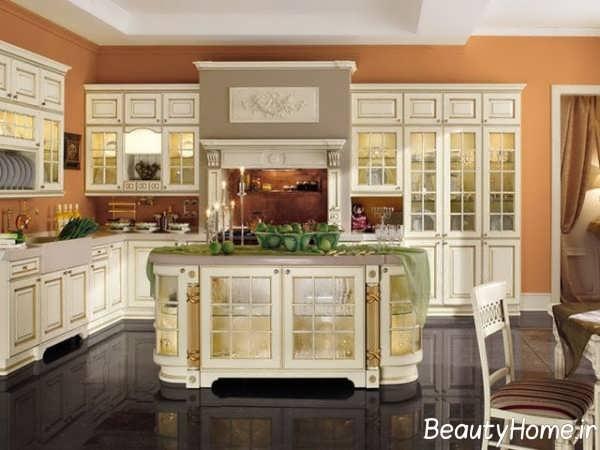 چیدمان عالی آشپزخانه طرح جزیره