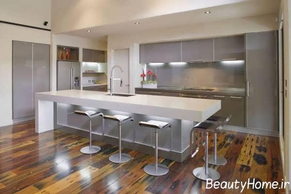 دکوراسیون زیبا آشپزخانه طرح جزیره