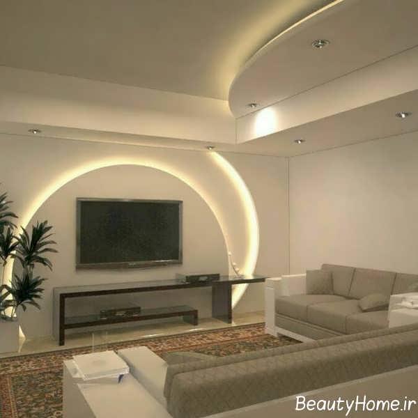 طراحی کناف با نورپردازی خاص
