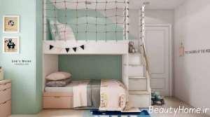 اتاق کودک با تم پاستیلی
