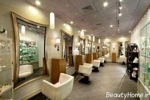 دکوراسیون مدرن در سالن آرایشی