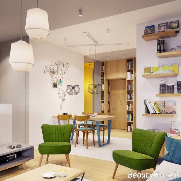 دیزاین شیک فضای داخلی منزل با الهام از طبیعت