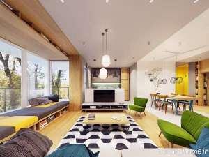 دکوراسیون رنگی و زیبا منزل