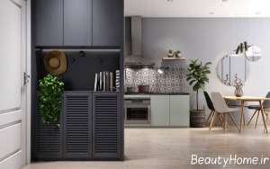 دیزاین زیبای آپارتمان کوچک