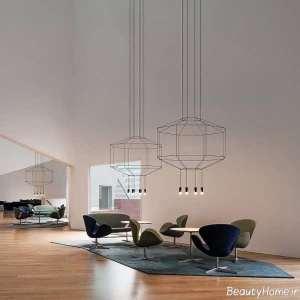 مدل لوستر شیک و زیبا برای سالن پذیرایی
