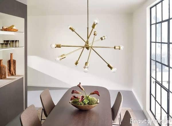 مدل لوستر برای اتاق غذاخوری