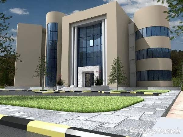 دیزاین زیبای نمای اداری ساختمان