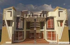 دیزاین فوق العاده نمای ساختمان