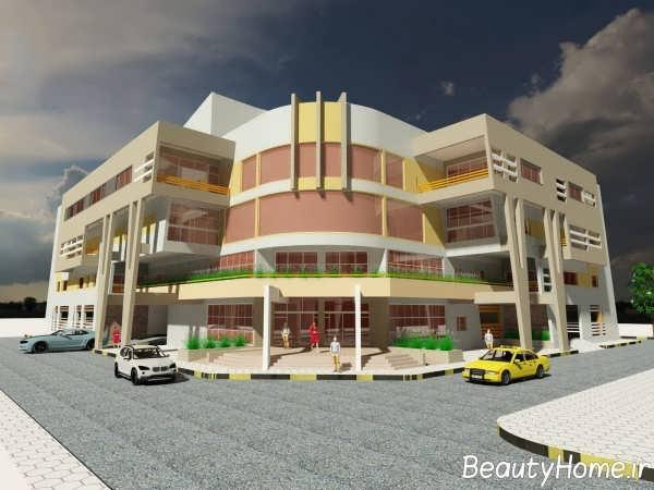 نمای ساختمان با دیزاین خاص