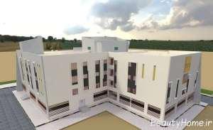 ساختمان اداری با نمای لاکچری
