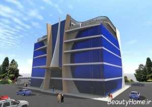 نمای خاص ساختمان اداری