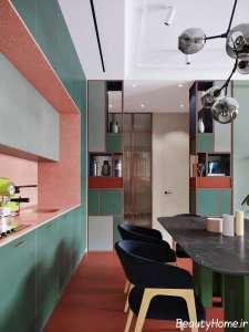 ترکیب رنگی زیبا در اتاق پذیرایی