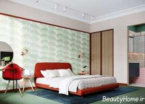 ترکیب سه تم رنگی در اتاق خواب
