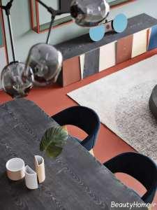 استفاده از رنگ آبی، سبز و قرمز در دکوراسیون منزل