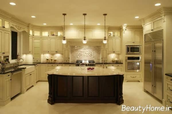 دکوراسیون شیک آشپزخانه کلاسیک