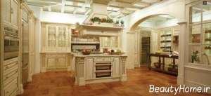 دیزاین زیبای آشپزخانه سلطنتی