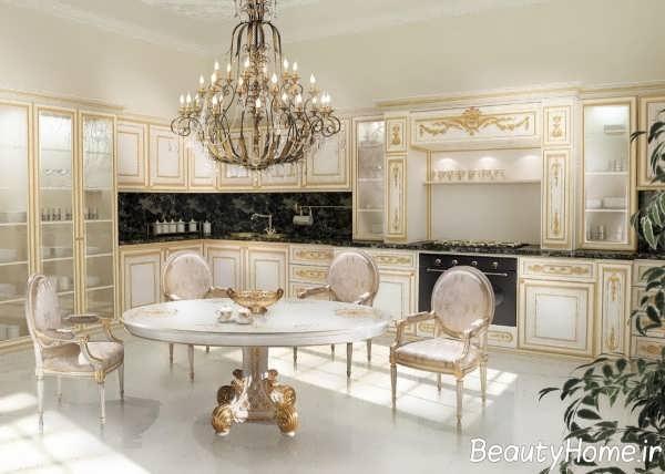 دیزاین شیک آشپزخانه سلطنتی