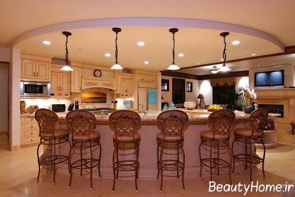 دیزاین مدرن آشپزخانه سلطنتی