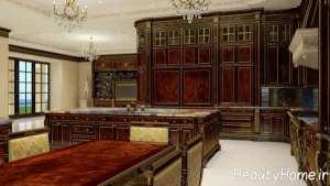 چیدمان آشپزخانه سلطنتی