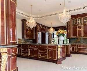 چیدمان شیک آشپزخانه سلطنتی