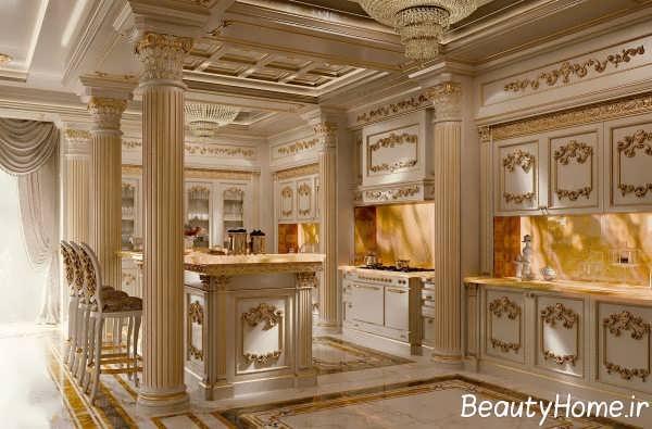 طراحی لاکچری آشپزخانه سلطنتی