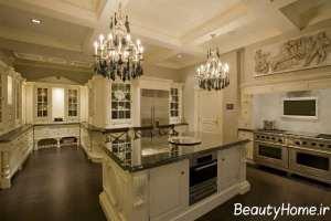 دکوراسیون زیبای آشپزخانه سلطنتی